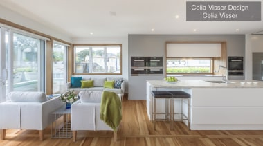 Highly Commended – Celia Visser Design – TIDA countertop, floor, home, interior design, kitchen, living room, real estate, window, gray