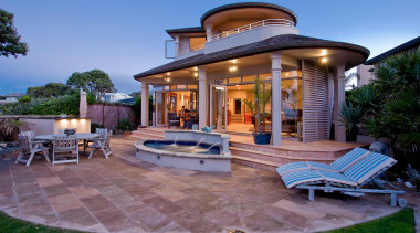 2a exterior - Exterior - backyard | estate backyard, estate, home, house, mansion, outdoor structure, patio, property, real estate, resort, swimming pool, villa, teal
