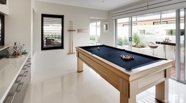 Activity room design. - The New Dimension Display billiard room, billiard table, estate, floor, interior design, pool, property, real estate, recreation room, table, gray