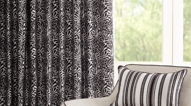 Hydrangea - black and white | chair | black and white, chair, curtain, furniture, interior design, product design, textile, window, window treatment, white, black