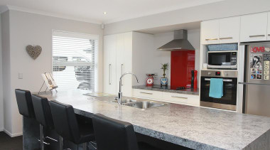 For more information, please visit www.gjgardner.co.nz countertop, interior design, kitchen, property, real estate, gray