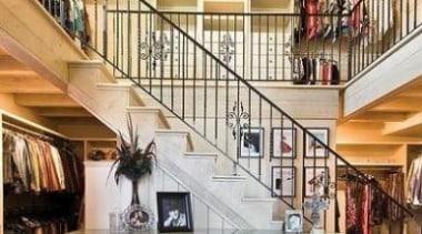 WALK IN CLOSET - Closet - walk in bookcase, cabinetry, ceiling, closet, furniture, home, interior design, shelf, shelving, orange