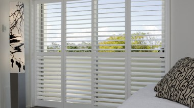 Harrisons Blinds & Shutters - Harrisons Blinds & bed frame, bedroom, curtain, daylighting, door, floor, home, house, interior design, real estate, room, sash window, shade, wall, window, window blind, window covering, window treatment, wood, gray