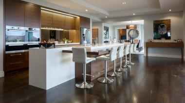 kohi7.jpg - countertop | floor | flooring | countertop, floor, flooring, hardwood, interior design, kitchen, real estate, room, wood flooring, gray, black