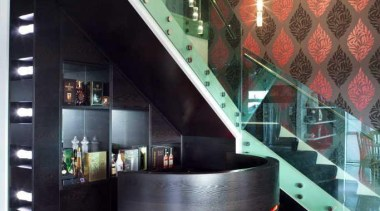 Black and red foyer - Foyer - furniture furniture, glass, interior design, lobby, product design, white, black