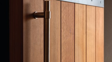 PB400 - Solid Pull Handle for Timber, Glass line, product design, wood, orange, black, brown