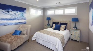 Bedroom design. - The Meridian Two Storey Display bedroom, ceiling, home, interior design, property, real estate, room, window, gray