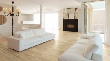 Dekton Valterra - Flooring - Dekton Valterra - bed frame, ceiling, couch, floor, flooring, furniture, hardwood, home, interior design, laminate flooring, living room, product design, room, wall, wood, wood flooring, gray
