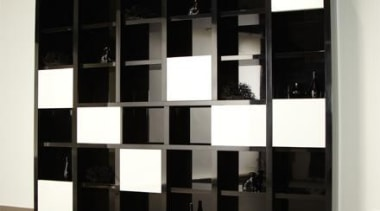 VerticoMono and VerticoSynchro - Cabinet with sliding doors. bookcase, furniture, product design, shelf, shelving, black, white
