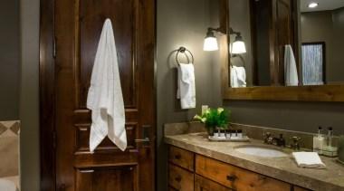 Mountain modern - Bathroom - bathroom   cabinetry bathroom, cabinetry, ceiling, countertop, cuisine classique, home, interior design, room, brown
