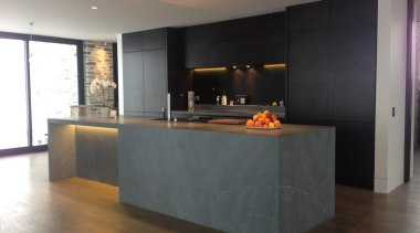 james residence kitchen image 1.jpg - james_residence_kitchen_image_1.jpg - cabinetry, countertop, floor, flooring, hardwood, interior design, kitchen, laminate flooring, wood flooring, black, gray