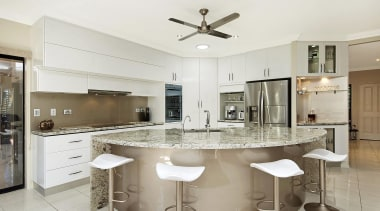 Winner Kitchen Design of the Year 2013 North countertop, cuisine classique, interior design, kitchen, real estate, white, gray