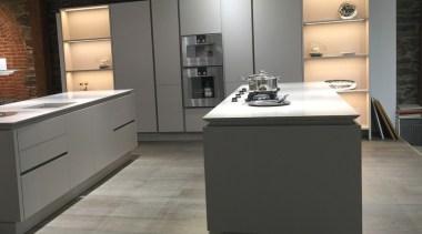 Concreate GKC CF101 4 - Concreate_GKC_CF101_4 - cabinetry cabinetry, countertop, cuisine classique, floor, flooring, home appliance, interior design, kitchen, laminate flooring, product design, tile, wood flooring, black, gray