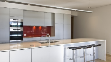 New Zealand Apartment Kitchen Designer of the Year cabinetry, countertop, interior design, kitchen, product design, gray, white