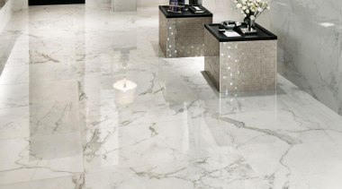 Marvel Calacatta bathroom floor tiles - Cb 6741375050102954 floor, flooring, interior design, product design, tile, wall, white, gray