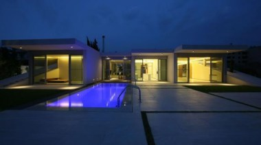 Jiyeh Villa, Jiyeh, LebanonAccent design Group - World architecture, estate, facade, home, house, landscape lighting, lighting, property, real estate, reflection, residential area, sky, swimming pool, villa, window, blue