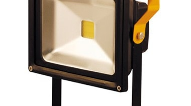FeaturesThe Foco portable flood light has a very lighting, product, product design, yellow, white