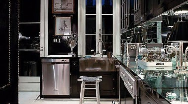 with northern star tiles - Black Kitchen - countertop, interior design, kitchen, black