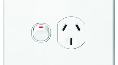 Slimline Series single horizontal socket White - SC2015 ac power plugs and socket outlets, electronic device, technology, white