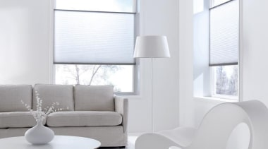 luxaflex duette shades - luxaflex duette shades - angle, chair, furniture, interior design, light fixture, living room, product design, table, window, white
