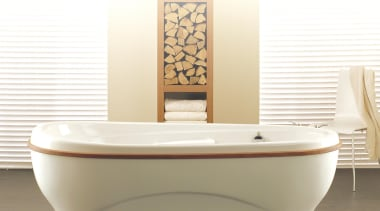 Large and beautiful shaped bath perfect for large bathroom, bathroom sink, bathtub, plumbing fixture, product, product design, toilet seat, white, brown