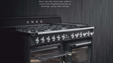 To access our Smeg Freestanding Ovens brochure please gas stove, home appliance, kitchen appliance, kitchen stove, major appliance, oven, black