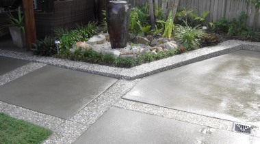 Colourmix 44 - Colourmix_44 - backyard | courtyard backyard, courtyard, garden, grass, landscaping, road surface, walkway, yard, gray, white