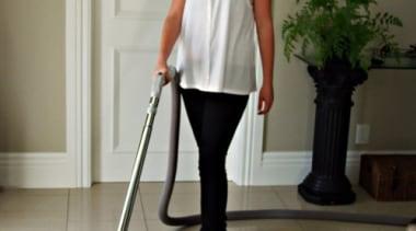 Vacuuming with Manta Floor - Vacuuming with Manta floor, flooring, leg, shoulder, standing, white, gray, brown