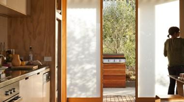 Coromandel, New Zealand - Studio 19 Onemana Bach architecture, ceiling, daylighting, floor, flooring, hardwood, house, interior design, laminate flooring, wall, window, wood, wood flooring, brown