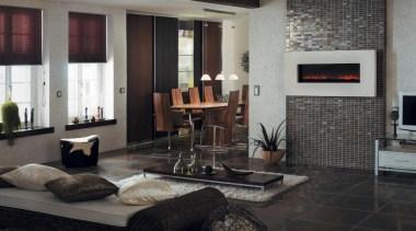 Paradox orange living area lounge floor tiles - floor, flooring, interior design, living room, room, black, gray