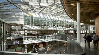 EXCELLENCE AWARDAUT Sir Paul Reeves Building (4 of airport terminal, architecture, building, daylighting, mixed use, shopping mall, gray, black