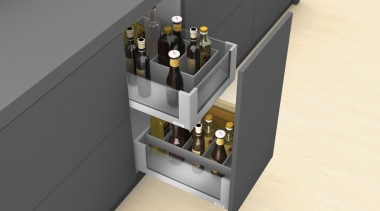 AMBIA-LINE inner dividing system – organization at its furniture, product design, gray, yellow