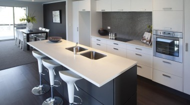 For more information, please visit www.gjgardner.co.nz countertop, interior design, kitchen, real estate, room, gray, black