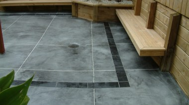 Overlay_31 - concrete | flagstone | floor | concrete, flagstone, floor, flooring, patio, tile, walkway, wall, wood, gray, brown