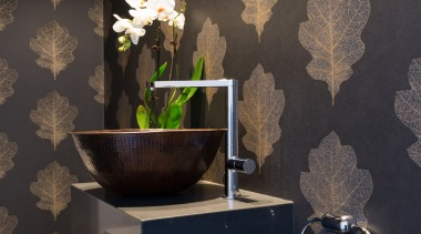 Citylife Apartment - Citylife Apartment - bathroom | bathroom, ceramic, floor, flooring, interior design, room, still life photography, tile, wall, wallpaper, black