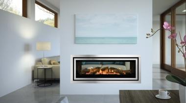 Regency Greenfire GF1500LST fireplace, hearth, interior design, living room, gray