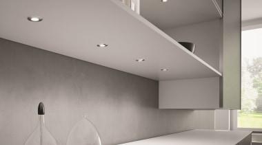 Domus Line Metris V12 LED Spotlights; made in architecture, ceiling, daylighting, floor, glass, house, interior design, lighting, product design, wall, gray