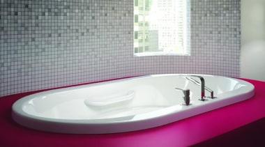 Amma7242 flat deck - Amma7242 flat deck - bathroom, bathroom sink, bathtub, ceramic, jacuzzi, plumbing fixture, product design, purple, sink, gray, black