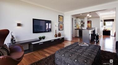 Home theatre design. - The Prodigy Display Home home, interior design, living room, property, real estate, room, gray, black