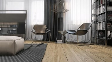leather sling chairs - Masculine Apartments - architecture architecture, chair, floor, flooring, furniture, hardwood, interior design, laminate flooring, living room, table, tile, window, wood, wood flooring, white, black
