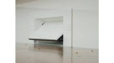 Kitvac Vacpan - Kitvac Vacpan - angle | angle, desk, furniture, product, product design, property, table, white, gray