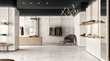 An interpretation of classical marble made with unmatched floor, flooring, furniture, interior design, laminate flooring, tile, wood flooring, white, black