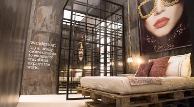 Dekton Trilium Walls Cosentino - Salone Milano 16 furniture, interior design, wall, brown, black