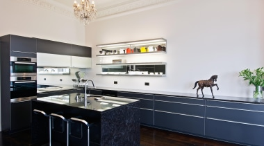 New Zealand Renovation Kitchen Designer of the Year countertop, interior design, kitchen, real estate, room, white, black