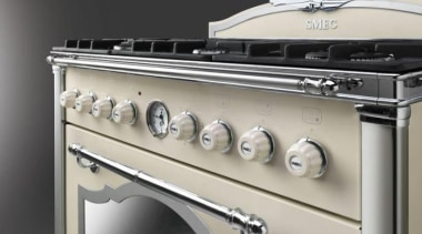 Smeg appliances: this oven is part of the gas stove, kitchen stove, product, gray, black
