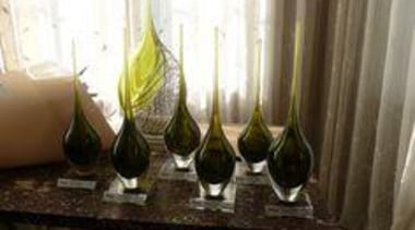 Trophies by glass artist Katie Brown and flowers drinkware, glass, stemware, wine glass, brown, white