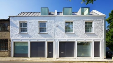 Mews House in Primrose Hill, London, United KingdomRobert architecture, building, commercial building, elevation, facade, home, house, property, real estate, residential area, siding, window, gray