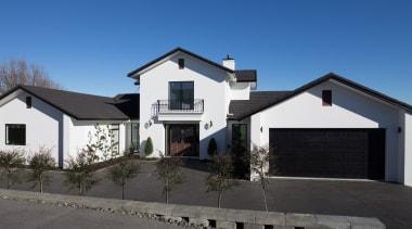 Landmark Homes Design & Build - Landmark Homes building, cottage, estate, facade, home, house, property, real estate, residential area, roof, siding, window, blue, black