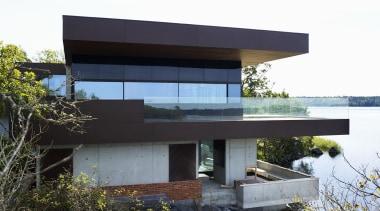 Skallan House Dekton Kadum Façade 04 - Skallan architecture, building, facade, house, real estate, white, black