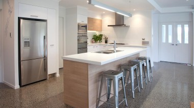 For more information, please visit www.gjgardner.co.nz cabinetry, countertop, cuisine classique, floor, flooring, interior design, kitchen, real estate, room, wood flooring, gray